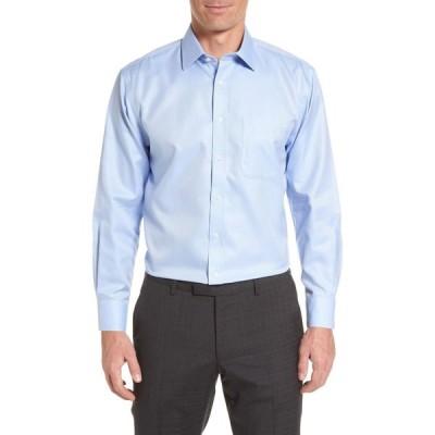 ノードストローム NORDSTROM MEN'S SHOP メンズ シャツ トップス Smartcare' Traditional Fit Herringbone Dress Shirt Light Blue