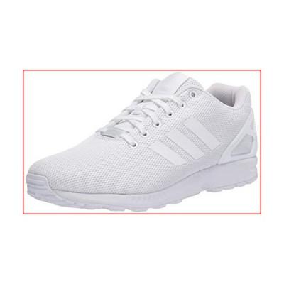 adidas Originals Men's Zx Flux Sneaker, White/White/Light Grey, 8.5 M US【並行輸入品】