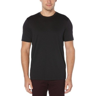 ペリーエリス メンズ Tシャツ トップス Solid Slub Short-Sleeve Tee Black
