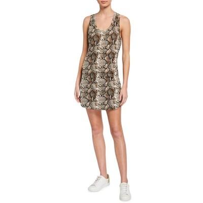 パムアンドジェラ レディース ワンピース トップス Snake-Print Tank Dress