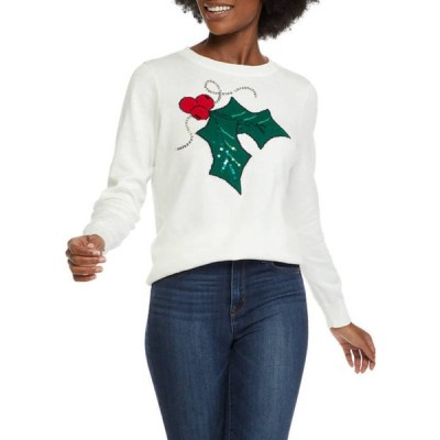 キム ロジャース レディース ニット・セーター アウター Women's Holly Intarsia Sweater