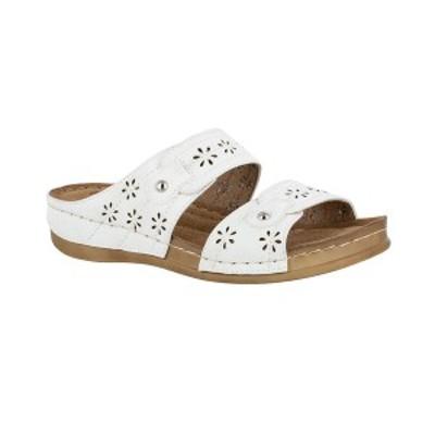 イージーストリート レディース サンダル シューズ Cash Comfort Sandals White