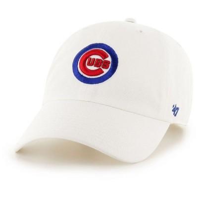 フォーティセブン 47 メンズ キャップ 帽子 ' Chicago Cubs Clean Up White Adjustable Hat
