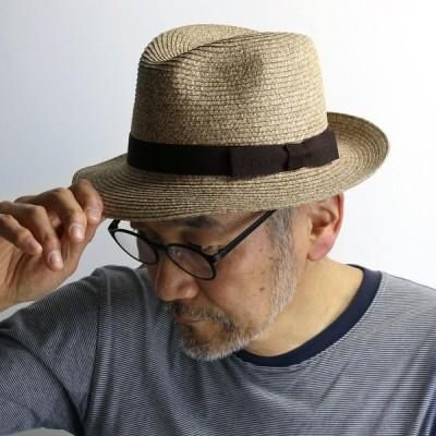 中折れ帽 春夏 メンズ レディース 帽子 イタリア製 ペーパー ブレード ワイド ハット シック インポート GALLIANO SORBATTI ガリアーノ ソルバッティ ベージュ