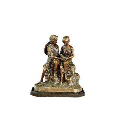 toperkinアート真鍮firgure Statue Fall In Love ManレディースブロンズDeco Statue tpe-414 ゴー