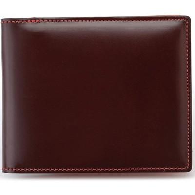 BRIT HOUSE コードバン 二つ折り財布 馬革高級紳士革財布(全3色) ダークブラウン