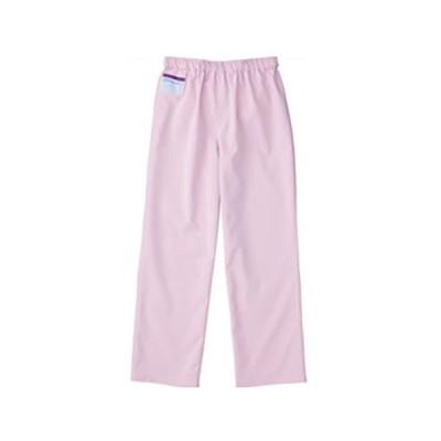人気★(カゼン)KAZEN 男女兼用 手術衣 スラックス パンツ 155 Mサイズ ローズ 155-97