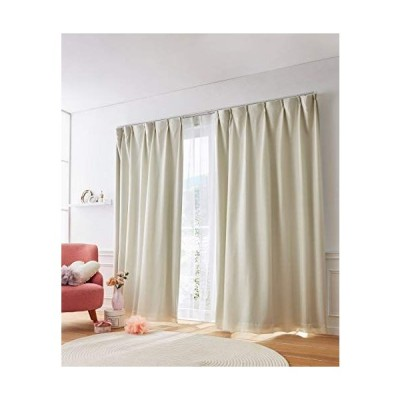 [nissen(ニッセン)] カーテン レースカーテン 4枚セット 遮光裏地付 ワッフル アイボリー 幅100×長さ135(133)cm