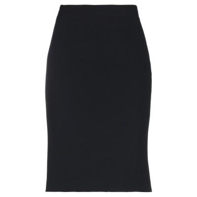 アスペジ ASPESI ひざ丈スカート ブラック 46 トリアセテート 70% / ポリエステル 30% ひざ丈スカート