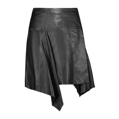 イザベル マラン ISABEL MARANT ミニスカート ブラック 36 羊革(ラムスキン) 100% ミニスカート