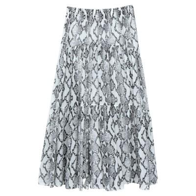 ジャッカ JUCCA ロングスカート アイボリー 44 コットン 76% / シルク 24% ロングスカート