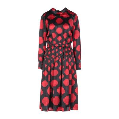 マルニ MARNI 7分丈ワンピース・ドレス ブラック 38 レーヨン 100% 7分丈ワンピース・ドレス