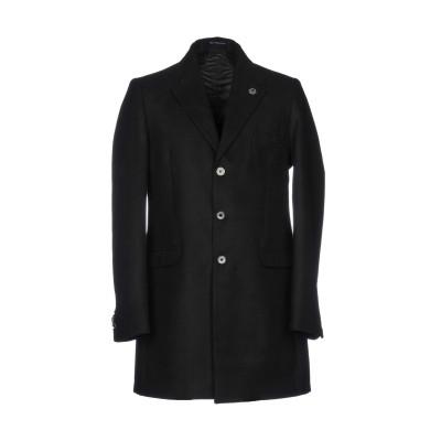 DE BOTTIS  Sartoria Italiana コート ブラック 52 ポリエステル 50% / ウール 26% / レーヨン 24% コ