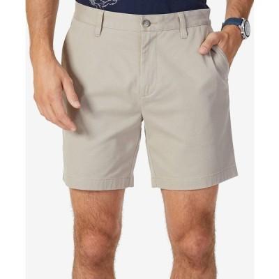 """ナウティカ カジュアルパンツ ボトムス メンズ Men's Stretch Flat Front 6"""" Shorts True Khaki"""