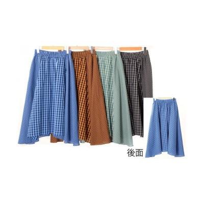 【アールエムストア】 チェック&チェック切替フレアースカート(M36020BT) レディース オレンジ フリー RM STORE