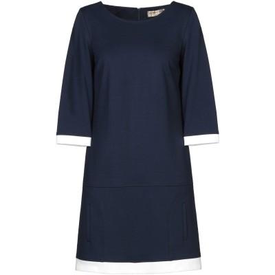 ELISA FANTI ミニワンピース&ドレス ダークブルー 42 レーヨン 67% / ナイロン 29% / ポリウレタン 4% ミニワンピース&