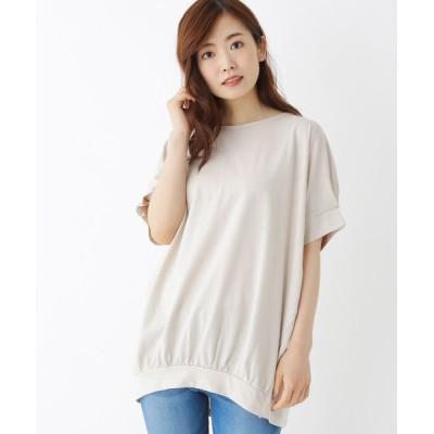 SHOO・LA・RUE / 【M-LL】コットンスラブ袖タックプルオーバー WOMEN トップス > Tシャツ/カットソー
