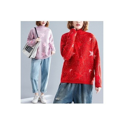秋冬新作 ファッション/人気セーター ピンク/アカ2色展開