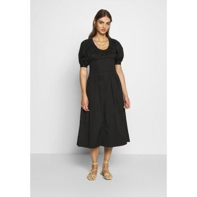 フー ワット ウェア ワンピース レディース トップス WAIST DETAIL MIDI DRESS - Day dress - black