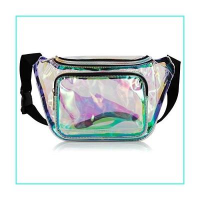 【新品】G-Fiend Women Waist Pack Holographic Shiny Fanny Pack Fashion Bum Bag(並行輸入品)