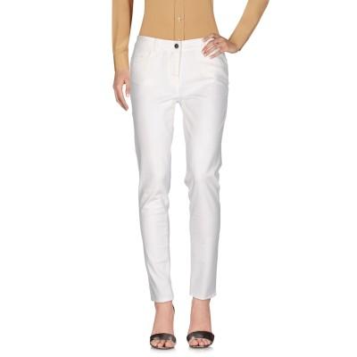 19.70 NINETEEN SEVENTY パンツ ホワイト 42 63% コットン 25% テンセル 10% レーヨン 2% ポリウレタン パンツ