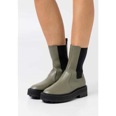 レディース 靴 シューズ Platform ankle boots - khaki