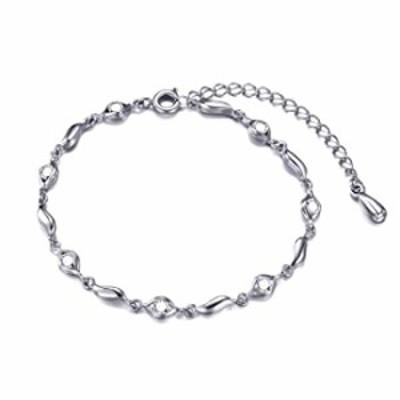 SOFTONES 925 Sterling Silver Charm Bracelets for Women Cute Zircon Heart Bracelets for Girls Infinity Bracelet Jewelry Gifts,Adj