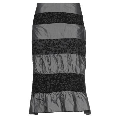 PROFUMO DI DONNA 7分丈スカート スチールグレー 42 アセテート 50% / レーヨン 50% 7分丈スカート