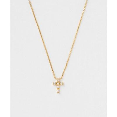ネックレス K10YG レイヤーネックレス ダイヤモンド
