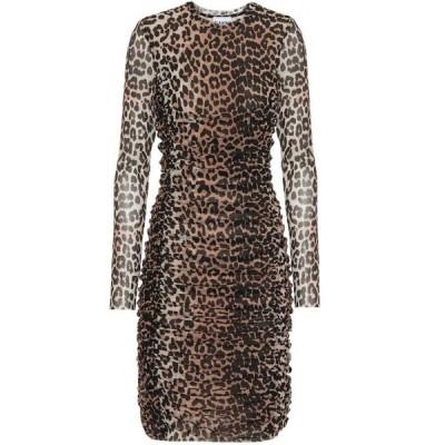ガニー Ganni レディース ワンピース ワンピース・ドレス leopard-printed minidress Leopard