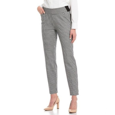 インベストメンツ レディース カジュアルパンツ ボトムス the PARK AVE fit Elite Stretch Gingham Print Pull-On Ankle Pants Gingham Check