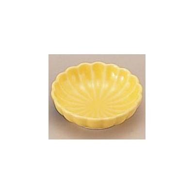 珍味入れ用陶器菊豆皿 黄 1-666-1 C