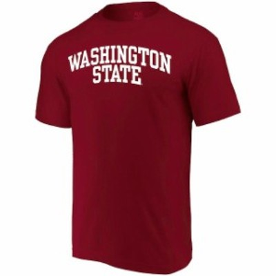 Alta Gracia アルタ グラシア スポーツ用品  Alta Gracia (Fair Trade) Washington State Cougars Crimson Arched Wordmark T-Shirt
