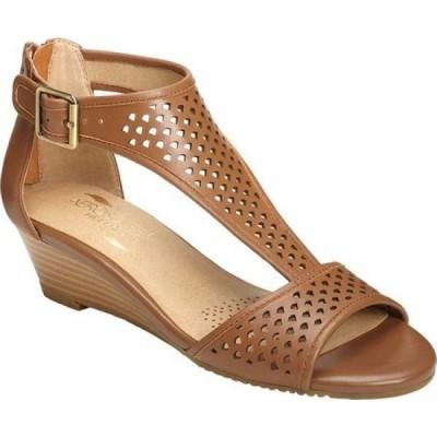 エアロソールズ Aerosoles レディース サンダル・ミュール シューズ・靴 Sapphire Sandal Dark Tan Leather