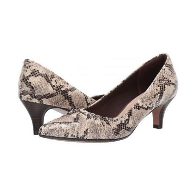 Clarks クラークス レディース 女性用 シューズ 靴 ヒール Linvale Crown - Taupe Snake Synthetic