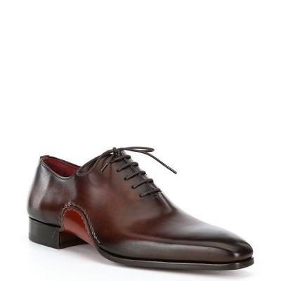 マグナーニ メンズ ドレスシューズ シューズ Men's Aranga Wholecut Leather Oxfords