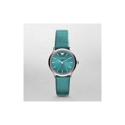 エンポリオアルマーニ EMPORIO ARMANI レディース 腕時計 レザー グリーン AR1804