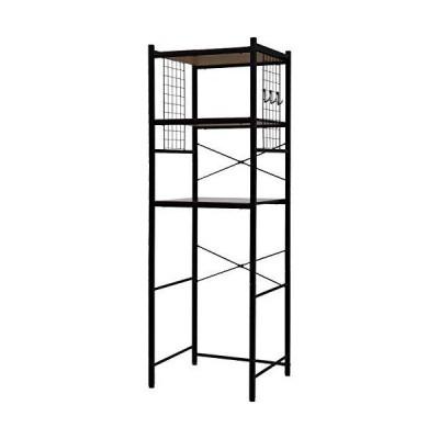 ワイエムワールド 冷蔵庫ラック デイジー 幅60cm ブラック 00-106