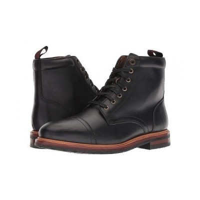 Florsheim フローシャイム メンズ 男性用 シューズ 靴 ブーツ レースアップ Foundry Cap Toe Lace-Up Boot - Black Horween