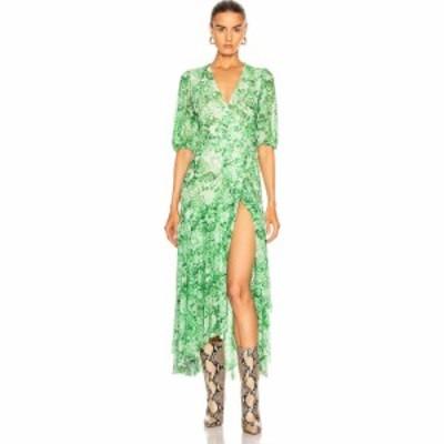 ガニー Ganni レディース ワンピース ワンピース・ドレス printed mesh dress Island Green