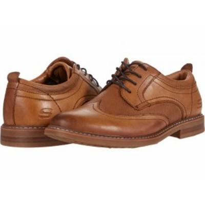 SKECHERS スケッチャーズ メンズ 男性用 シューズ 靴 オックスフォード 紳士靴 通勤靴 Bregman Modeso Cognac【送料無料】