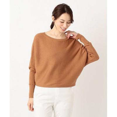 <ICB L(Women)/アイシービーL> 大きいサイズ Hi Twist Silk CottonII ニット(KRCMKM0314) ライトオレンジ【三越伊勢丹/公式】