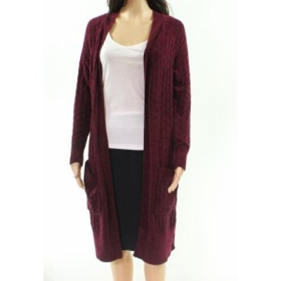 Red  ファッション トップス Ceny NEW Red Knit Open Front Womens Size Medium M Cardigan Sweater