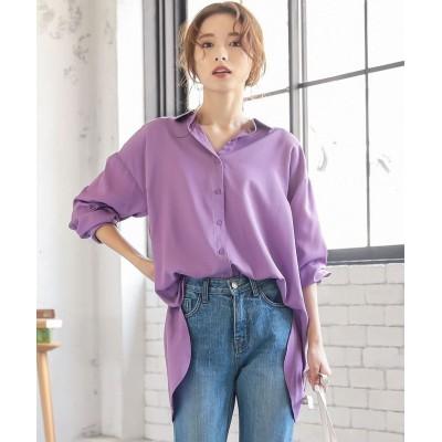 【神戸レタス】 バックリボンチュニックシャツ [C4891] レディース パープル ワンサイズ(M) KOBE LETTUCE