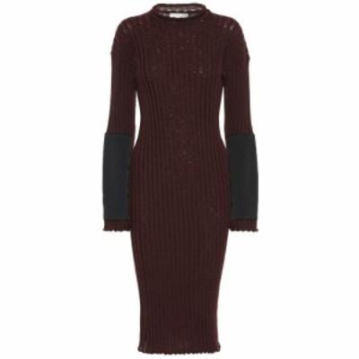 ボッテガ ヴェネタ Bottega Veneta レディース ワンピース ワンピース・ドレス Cashmere knit dress Ox Blood/Nero
