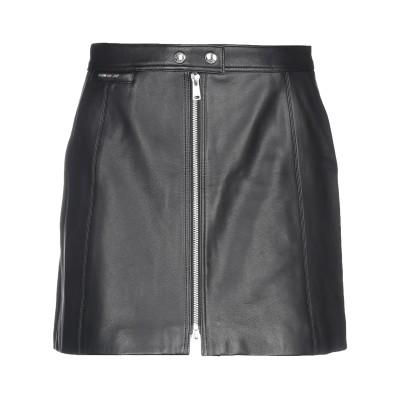 ベルスタッフ BELSTAFF ミニスカート ブラック 46 羊革(ラムスキン) ミニスカート