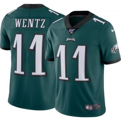 ナイキ Nike メンズ トップス Philadelphia Eagles Carson Wentz #11 100th Green Limited Jersey