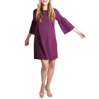 イングリッド&イザベル レディース ワンピース トップス Maternity Ponte Bell-Sleeve Dress