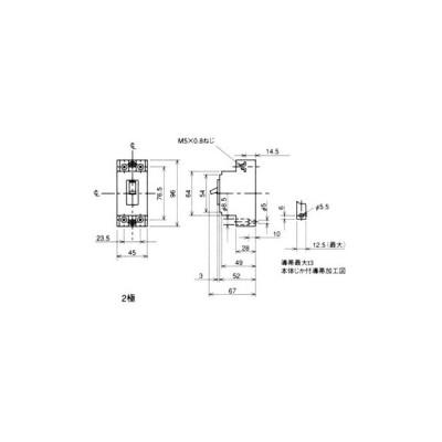 ノーヒューズ遮断器 NF-CSシリーズ(経済品) 三菱電機 NF30-CS 2P 30A WW CE規格対応品 白色