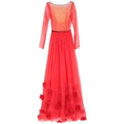 RAQUEL BALENCIA ロングワンピース&ドレス レッド 40 ポリエステル 100% ロングワンピース&ドレス